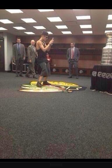 Bieber Stands on Indian Head
